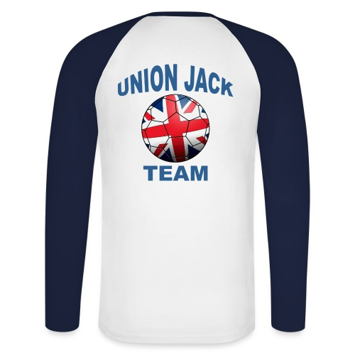 Mens Long Sleeved Union Jack Team - Men's Long Sleeve Baseball T-Shirt