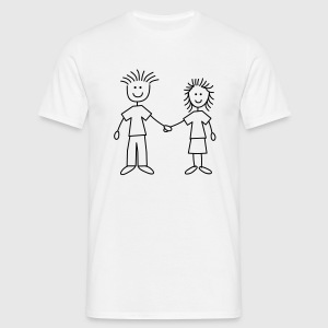 family_mom_and_dad_1c T-Shirts - Männer T-Shirt