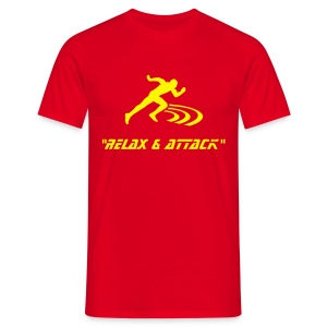 relax & attack red / yell - Men's T-Shirt