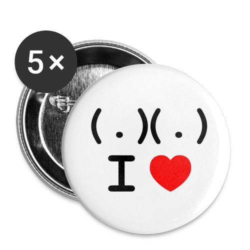 I love Tits - Buttons medium 1.26/32 mm (5-pack)