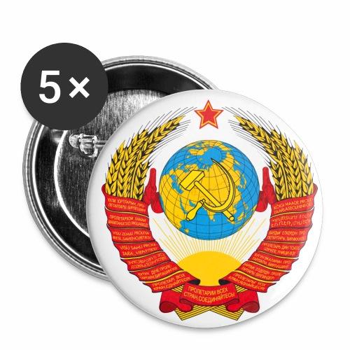 Wappen Sowjetunion CCCP Button Anstecker - Buttons mittel 32 mm (5er Pack)