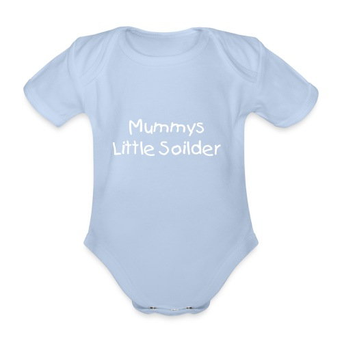 mummys little soilder baby vest - Organic Short-sleeved Baby Bodysuit