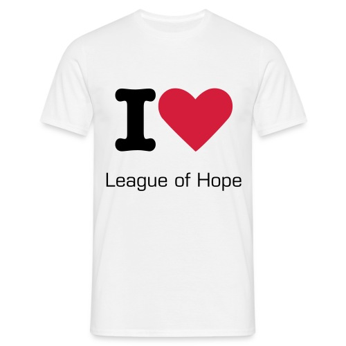 Classic white t-shit male, I Love League of Hope  - Men's T-Shirt