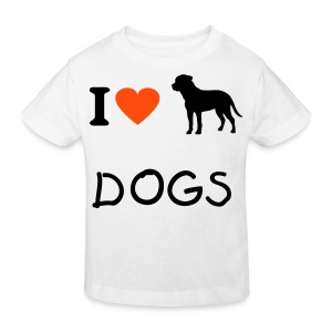 I love DOGS - Kids' Organic T-shirt