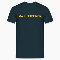 Navy Bit happens T-Shirts