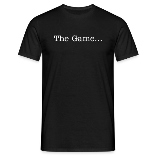 The Game Men's Tshirt - Printed front and rear. - Men's T-Shirt