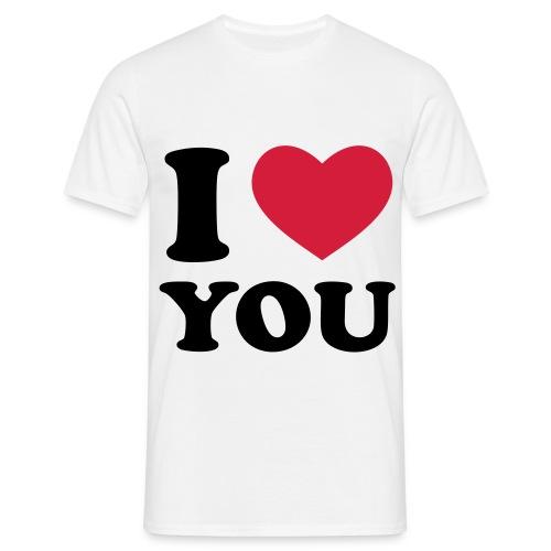 I love you - T-skjorte for menn