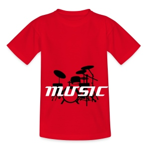Music (with Drums) - Teenage T-shirt