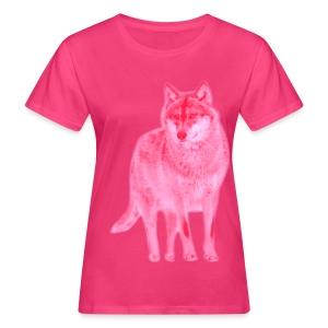 Bio Damen Girlie Shirt Wolf canis lupus Wulf pink tiershirt shirt tiermotiv - Frauen Bio-T-Shirt