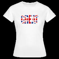 T-Shirts ~ Women's T-Shirt ~ Great Britain Flag, British Flag, Union Jack, UK Flag