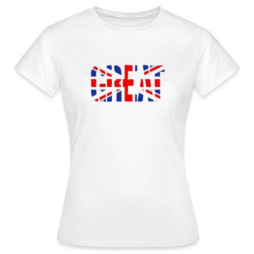 Great Britain Flag, British Flag, Union Jack, UK Flag - Women's T-Shirt