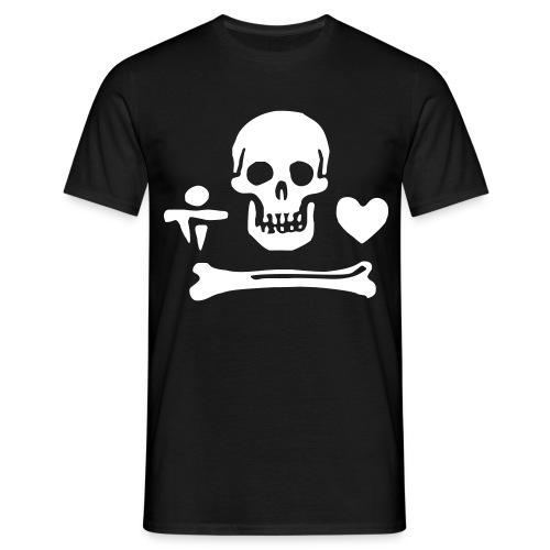 Das Piratenzeichen von Stede Bonnet - Männer T-Shirt
