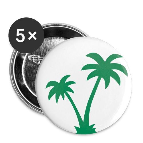 Viva la Palme - Buttons klein 25 mm (5er Pack)