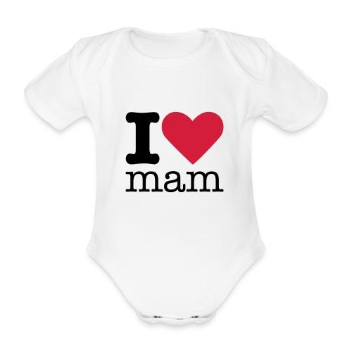 I Love Mam - Baby bio-rompertje met korte mouwen