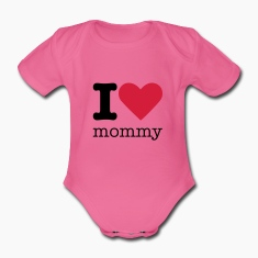 I Love Mommy Baby Bodysuits