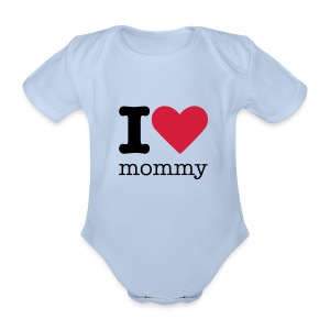I Love Mommy - Baby bio-rompertje met korte mouwen