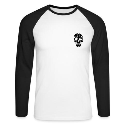 Skull T Shirt - Men's Long Sleeve Baseball T-Shirt