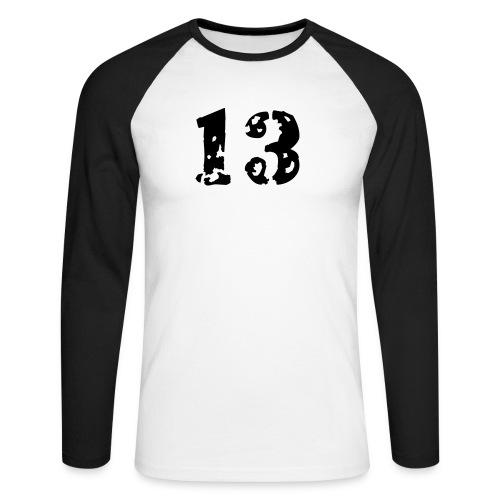 13 - Männer Baseballshirt langarm