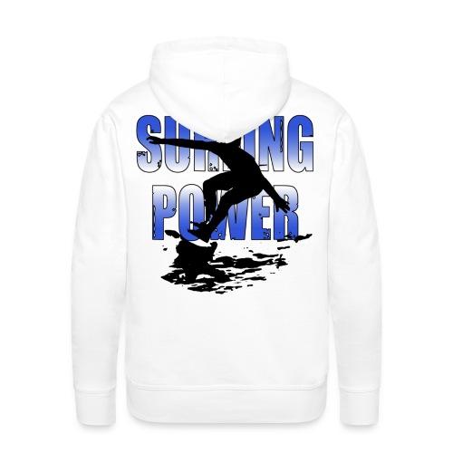 Sweatshirt surfing power - Men's Premium Hoodie