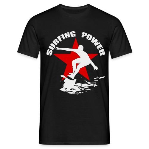 t-shirt surfing power - Men's T-Shirt