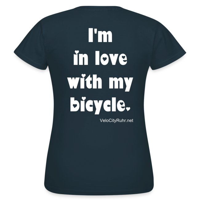 I'm in love with my bicycle. (women)