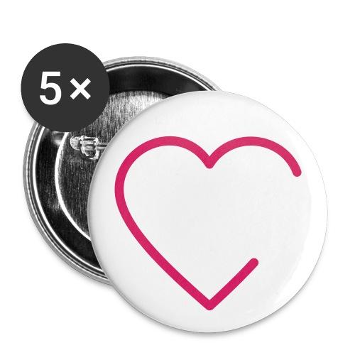 Buttons Herz - Buttons groß 56 mm