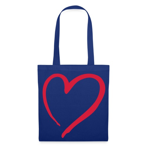 Simple Purple tote bag with pink heart in centre - Tote Bag