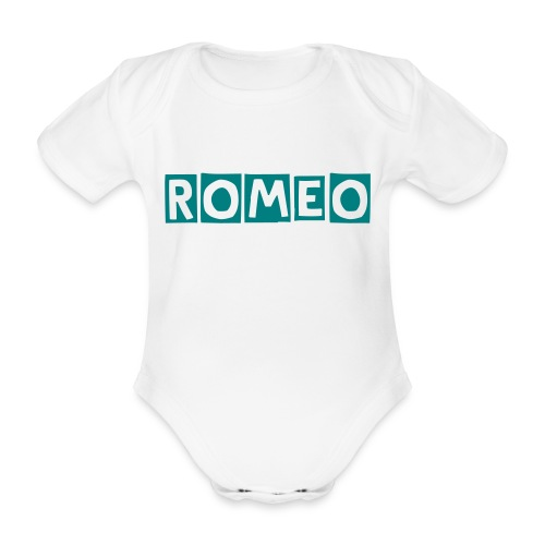 NAMED BABY ROMPER - Organic Short-sleeved Baby Bodysuit