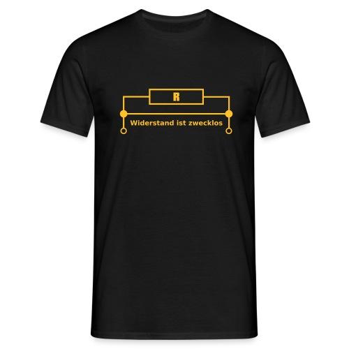 Widerstand ist Zecklos. Elektroniker  - Männer T-Shirt