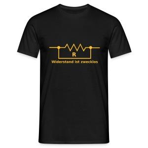 Widerstand ist Zecklos. Elektroniker ,amerikanisch - Männer T-Shirt