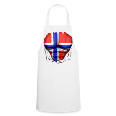 Norway Flag Ripped Muscles six pack chest apron