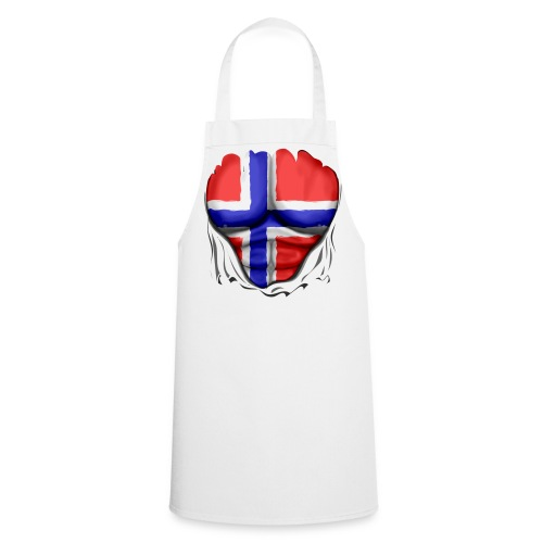 Norway Flag Ripped Muscles six pack chest apron - Cooking Apron