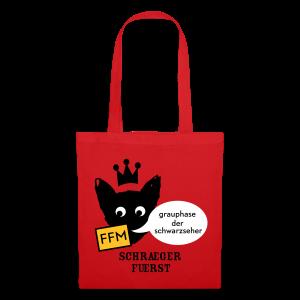 stofftasche, FFM, grauphase der schwarzseher - Stoffbeutel