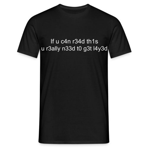 Text Language Male T-Shirt - Men's T-Shirt