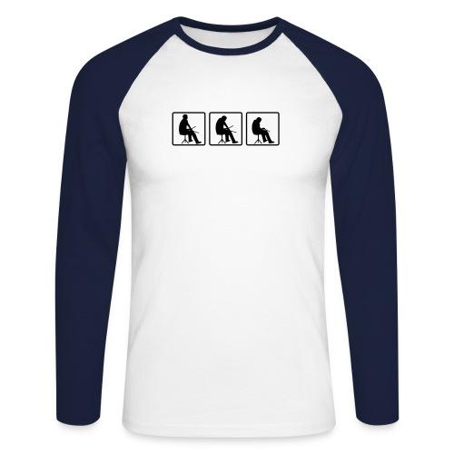 Langarmshirt Band - Männer Baseballshirt langarm