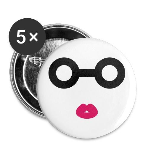 Spex_Girl_Button - Buttons groß 56 mm (5er Pack)