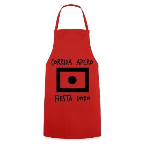 Tablier de cuisine rouge special apéro - Tablier de cuisine