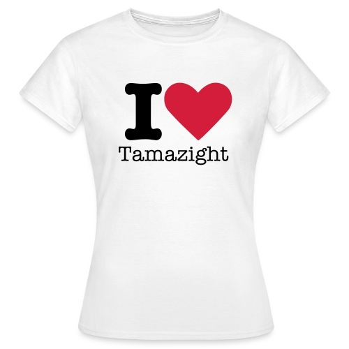 White love tamazight Women's T-Shirts - Women's T-Shirt