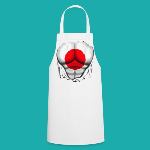 Japan Flag Ripped Muscles, six pack, chest t-shirt - Cooking Apron