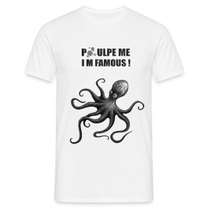 T-shirt blanc homme Poulpe me! - T-shirt Homme