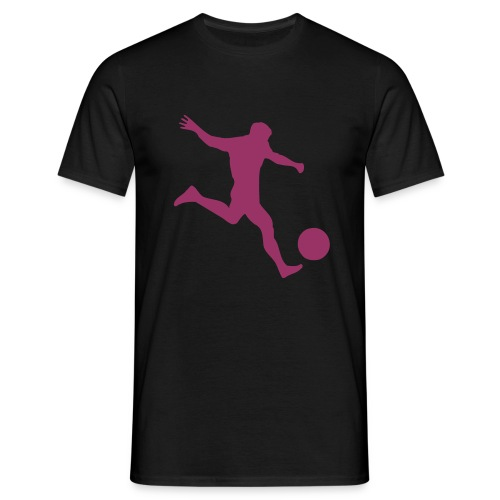 Football T-Shirt w/ Red Glitter - Men's T-Shirt