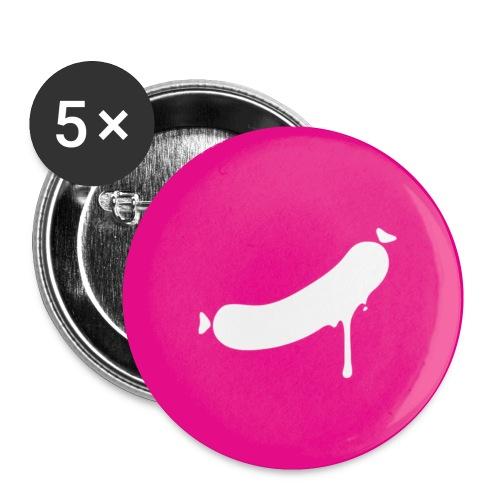 Ansteckweißwurst - Buttons klein 25 mm