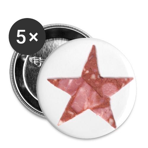 Ansteckwurststern - Buttons klein 25 mm