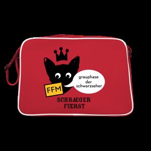 retrotasche, FFM, grauphase der schwarzseher - Retro Tasche
