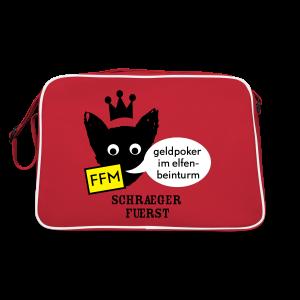 retrotasche, FFM, geldpoker im elfenbeinturm - Retro Tasche