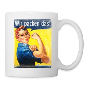 Tasse: Wir packen das! Motiv We can Do it! - Tasse