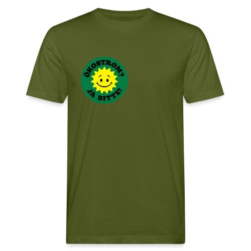Ökostrom? Ja Bitte - Männer Bio-T-Shirt