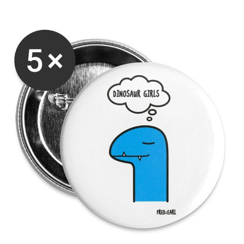 Fred & Earl - Dinosaur Girls - Buttons klein 25 mm