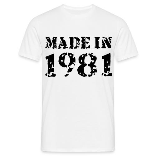 Men's Made In 1981  - Men's T-Shirt