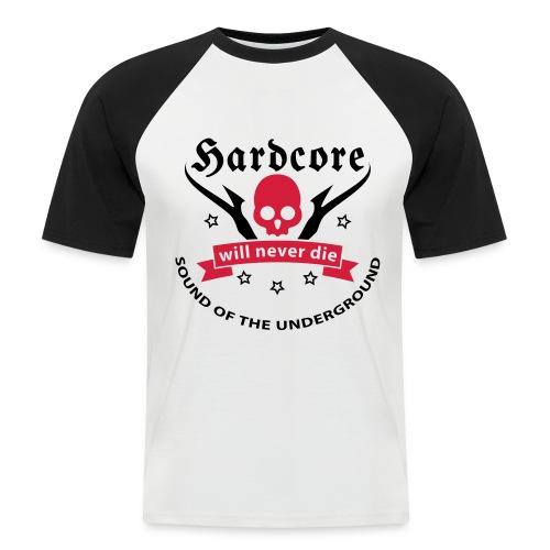 Men Shirt Hardcore (black) - Men's Baseball T-Shirt